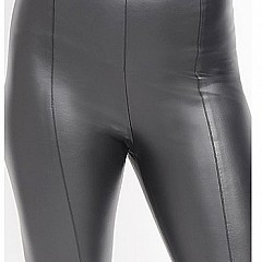 Hi Waist Vegan Leather Legging