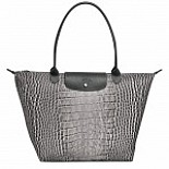 Le Pliage Croc Collection Large Shoulder Tote DISCONTINUED