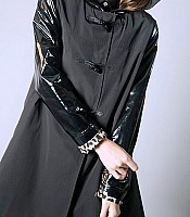 A Line Duffle Hooded Raincoat