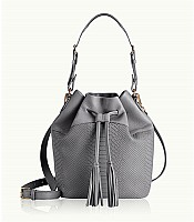 Jenn Bucket Bag in Embossed Python