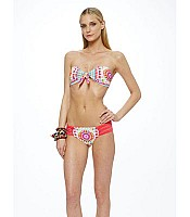Mara Hoffman Shakti Strappy Bandeau and Bikini Set in White