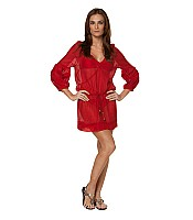 Solid Red Julie Tunic