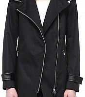 Daria Black Trench Coat with Hood