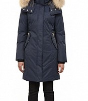 Kerry  Long Winter Down Parka with Fur Trim
