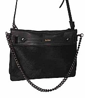 Botkier Leroy Clutch in Black Haircalf with Gunmetal HJardware 14F0551