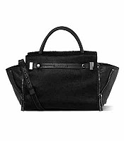 Botkier Leroy Satchel in Black Hair Calf 14f0181