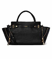 Botkier Leroy Satchel in Black with Gold Hardware 14f0181
