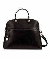 Piper Large Satchel in Black for Spring 2015