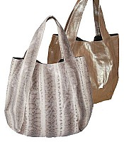 Jenna bag in Grey White and Champagne snakeskin