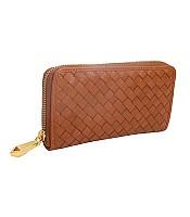 Woven Zip Wallet
