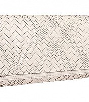 Optical Weave Izzie Clutch