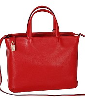 Papermoon large tote in saffiro leather