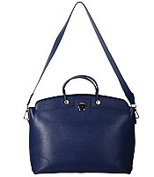 Furla New Piper Lux L Top Handle Handbag in Ink