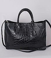 Practica Large Tote in Classic croc embossed leather