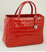 Practica Medium in Classic Croco Embossed leather