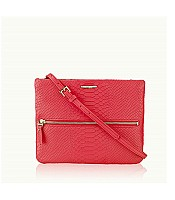 Crossbody Bag in Embossed Python