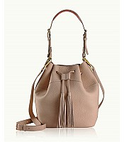 Jenn Bucket Bag in Pebble Grain Leather