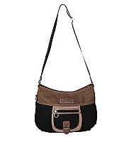 Lancaster Microfibre should bag and crossbody bag 504-89