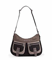 Basic and Sport Double Pocket Microfiber Crossbody