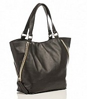 Alex Zip Tote available in black and tan