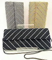 Crystal Chevron Clutch