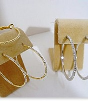 Hoop Earrings with Cubic Zirconia