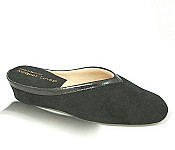 Jacques Levine 4640 Black Suede+Black patent *limited Edition Color