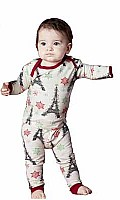 Baby Christmas Eiffel Tower Stretch Long Sleeve 2pc Boo Boo 2050-K-2303