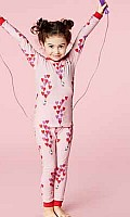 Hello Kitty Floating Hearts Stretch L/S Kids PJ 2010-K-4014