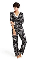 Noir Eiffel Tower Lace Stretch Jersey Lounge Set