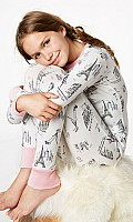 Cafe du Paris Stretch Tweens' L/S 2pc PJ 2010-T-2522