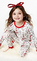 Bow Eiffel Tower Stretch Kids' L/S 2pc PJ 2010-K-2622