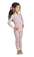 Pink Flamingo Long Sleeve Kids Snug PJ 2010-K