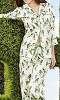 Green Cabana Birds Classic Cotton Sateen PJ