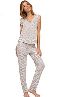Eberjey By The Sea Sleep Top and Pajama Pants Set