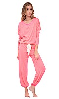 Women's Heather Slouchy Sleep Tee and Pants Set