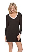 In the Mood for Lulu Long Sleeve V-Neck Sleepshirt