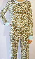 Leopard in Color Velour Thermal Pajama Set