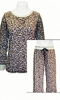Made U Blush Leopard Print PJ Set