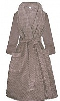 Waffle Robe in Taupe