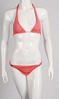 Europe Halterneck Bikini in Peach