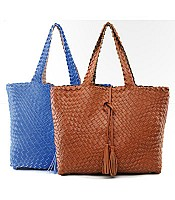 Edith Reversible Woven Tote