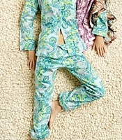 Palm Springs Chocolate Paisley Stretch Classic Pajama Set