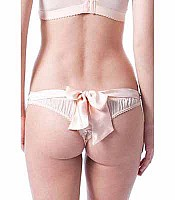 Mimi Holliday Neapolitan Silk Back Bow Thong AW14-117