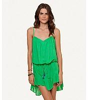Vix Sofia Solid Green Cecily Short Dress