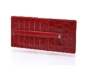 Vintage Croco Credit Card File
