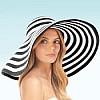 Stripe Dip Brim Hat