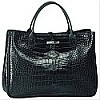 Roseau Croco Top Handle East West Handbag