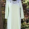 Juliette 3/4 Sleeve Short Nightgown