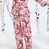 Red Palm Springs Paisley Classic Flannel PJ